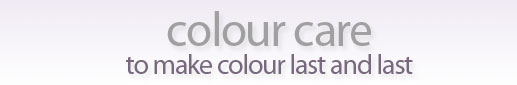 hair colour, colour care