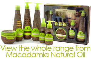 macadamia natural oil, argan oil, moroccan oil, hair treatment, salon hair products
