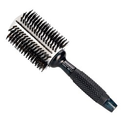 Brushworx Navy Rubber Grip Porcupine Radial Hair Brush - Large