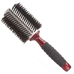 Brushworx Red Rubber Grip Porcupine Radial Hairbrush - Large