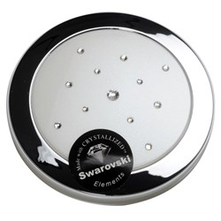 Taylor Madison Small Round Compact Mirror - Pearl White