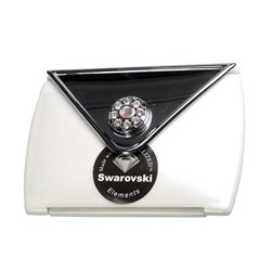 Taylor Madison Envelope Style Compact Mirror - Pearl White