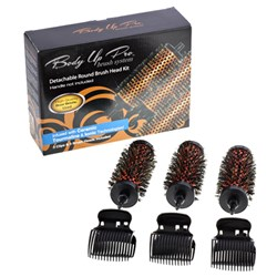 Body Up Pro Hair Brush System Detachable Small Round Brush Head Kit