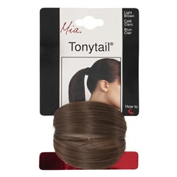 Mia Tonytail Ponytail Hair Wrap, Light Brown