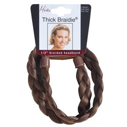 Mia Thick Braidie 13mm Braided Faux Headband, Light Brown