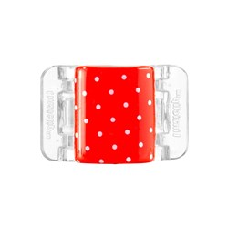 Linziclip Midi Hair Clip Red with White Dots