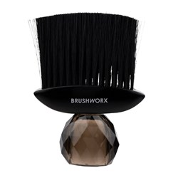 Silver Bullet Black Crystal Neck Brush -  Black