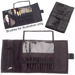 BeautyPRO Fold-Out Make-Up Brush Pouch, 13pc
