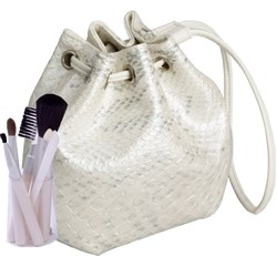Make Me Up White Pearl Python Cosmetic Brush Set, 6pc