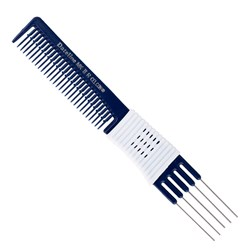 Dateline Professional Blue Celcon MKIIR Metal Teasing Comb - 19cm