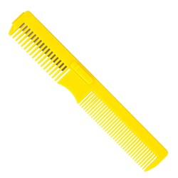 Dateline Professional Hair Razor Comb in Yellow 17.5cm