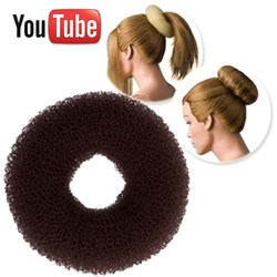 Dress Me Up Hair Donut Brown – Large, Regular