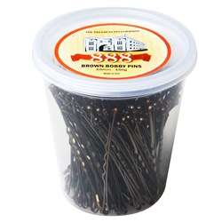 "Premium Pin Company 888 Bobby Pins 2.5"" - Brown"