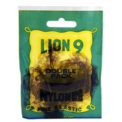 Lion Hair Nets - Medium Brown, 2pk