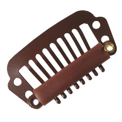 Dateline Professional Hair Extension Clips 6pk – Medium, Brown