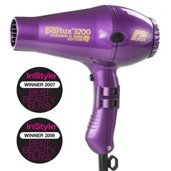 Parlux 3200 Ionic + Ceramic Compact Hair Dryer - Purple