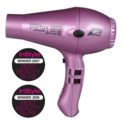 Parlux 3200 Ionic + Ceramic Compact Hair Dryer - Pink