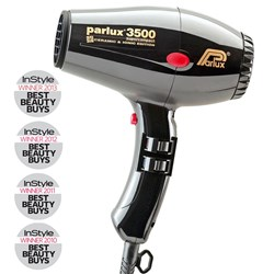 Parlux 3500 Super Compact Ceramic & Ionic Hair Dryer - Black