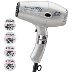 Parlux 3500 Super Compact Ceramic & Ionic Hair Dryer - Silver