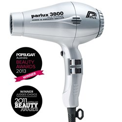Parlux 3800 Ionic and Ceramic Hair Dryer - Silver