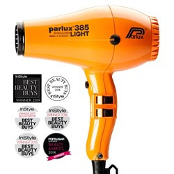 Parlux 385 Power Light Ceramic and Ionic Hair Dryer, Orange