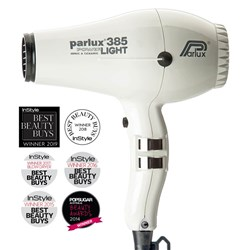 Parlux 385 Power Light Ceramic and Ionic Hair Dryer, White