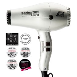 Parlux 385 Power Light Ceramic and Ionic Hair Dryer, Silver
