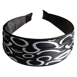 Revlon Black Satin Swirl Headband