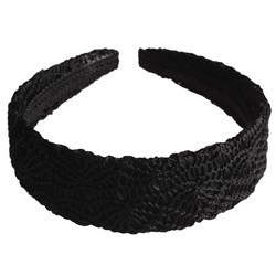 Revlon Black Crochet Headband
