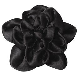 Revlon Black Satin Flower Clip