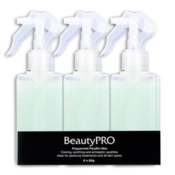BeautyPRO Peppermint Spray-On Paraffin Wax - 6pk