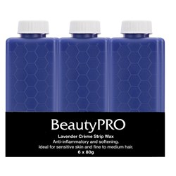 BeautyPRO Lavender Creme Strip Wax - 6pk