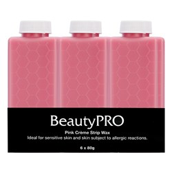 BeautyPRO Pink Creme Strip Wax - 6pk