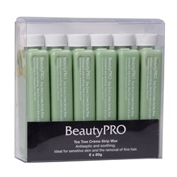 BeautyPRO Tea Tree Creme Strip Wax - 6pk