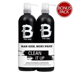 TIGI Bed Head B For Men Clean Up Tween Duo Pack
