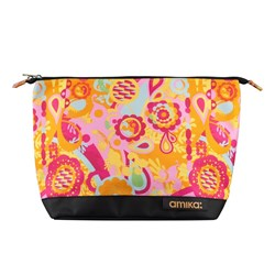 amika Signature Zip Cosmetic Bag