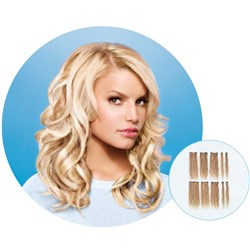 Jessica Simpson hairdo 9pc Human Hair Clip-In Hair Extensions