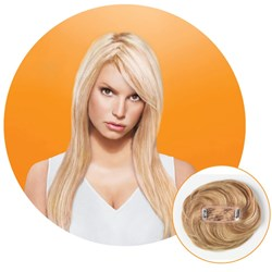 Jessica Simpson hairdo The Fringe Luxelite Clip-In Hair Extensions