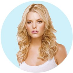 Jessica Simpson hairdo Tru2Life 5pc Fineline Clip-in Hair Extensions