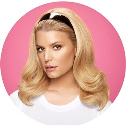 Jessica Simpson hairdo Tru2Life Headband Hair Extensions