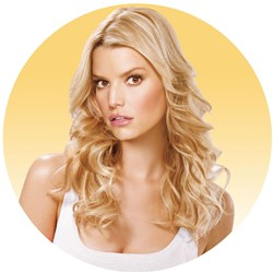Jessica Simpson hairdo Tru2Life Fineline 1 Piece Hair Extensions
