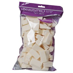 BeautyPRO Affinity Non-Latex Wedge Cosmetic Sponges, 100pk