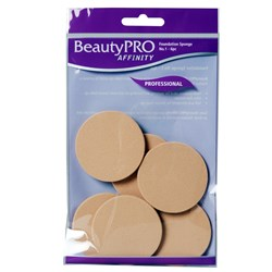 BeautyPRO Affinity Dark Foundation Sponges No. 1, 6pk