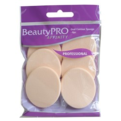 BeautyPRO Affinity Oval Contour Cosmetic Sponges, 6pk