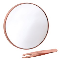 Tweezerman Rose Gold Mini Slant Tweezer and Mirror Duo