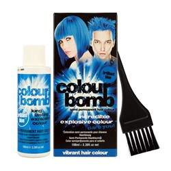 Colour Bomb Semi Permanent Hair Colour Kit in Blue