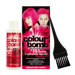 Colour Bomb Semi Permanent Hair Colour Kit in Red