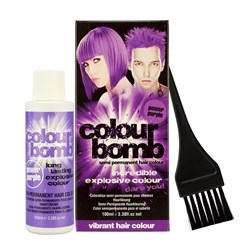 Colour Bomb Semi Permanent Hair Colour Kit in Purple