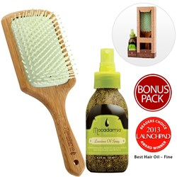 Macadamia Natural Oil Luxurious Oil Spray/Paddle Brush Gift Set