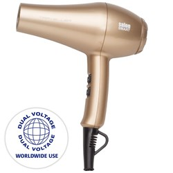 Salon Smart Traveller Dual Voltage Professional Hair Dryer - Champagne